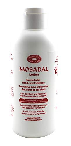 Mosadal Lotion 250ml - PEG und Parfümfrei, Löst Hornhaut und Nagelhaut, Kosmetische Hand- und Fußpflege