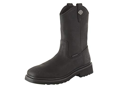 HARLEY-DAVIDSON FOOTWEAR Men's Altman Western Boot, Black, 10.5