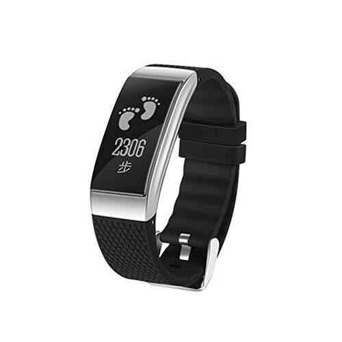 ZengBuks FIT18 Smart Wristband Sport Smart Bracciale Cardiofrequenzimetro Bracciale Fitness Uomo Fitness Tracker Smart Band - Nero