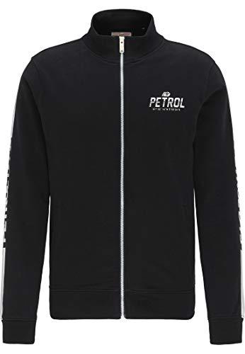 Petrol Industries MEN Herren 426931_Schwarz_L_SWC347 Sweatjacke, L