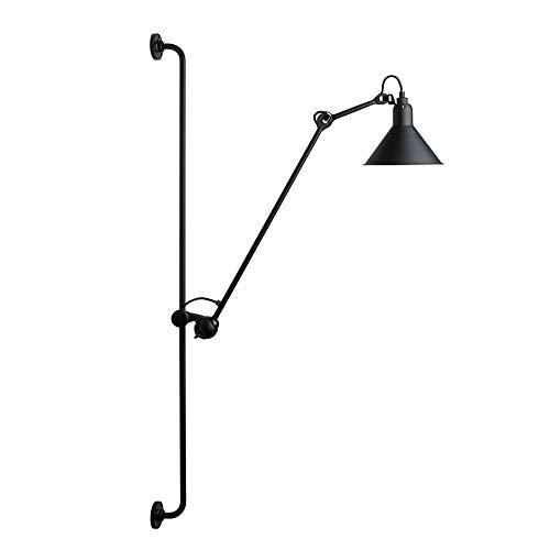 Loft Vintage Lámpara de Pared,Industrial Brazo largo Apliques de pared Arriba Abajo Ajustable Rotación Luces de pared Retro con Metal Sombra E27 Aplique para Casa Dormitorio sala de estar Desván Bar,A