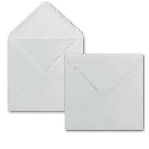 Paper24 Lot de 100 enveloppes carrées Blanc 15 x 15 cm 100 g/m² Fermeture humide avec rabat pointu