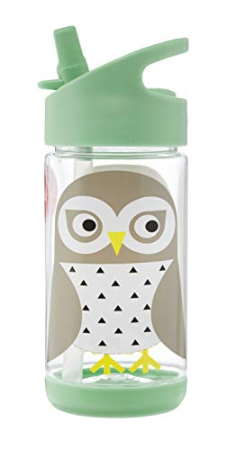3 Sprouts Water Bottle – Kids Small Spill Proof 12oz. Plastic Spout Water Bottle