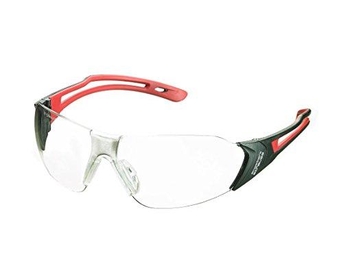 Engelbert Strauss Schutzbrille e.s. Abell, Größe:one size, Farbe:rot/schwarz