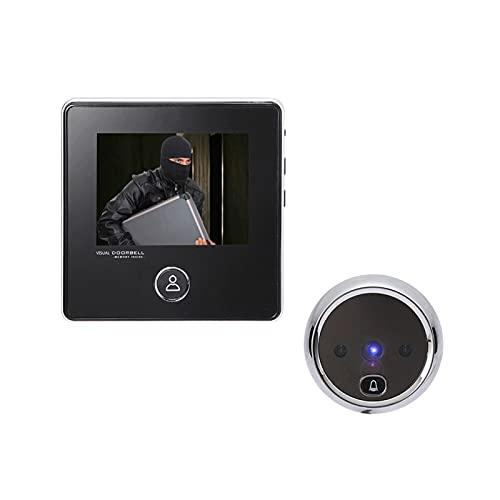 mrjg Visor de Puertas electrónicas Inteligentes 2.8'Pantalla LCD Puerta Digital Cámara de Puerta Doorbell Visual Cámara de grabación de Fotos