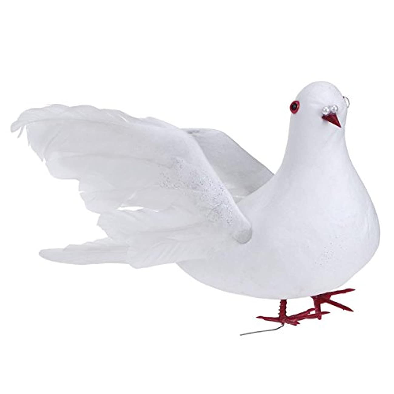 lwingflyer Artificial Simulation Foam Bird,White Feather Dove Ornaments DIY Craft for Wedding Decoration Party Accessories (Big Fly Dove)