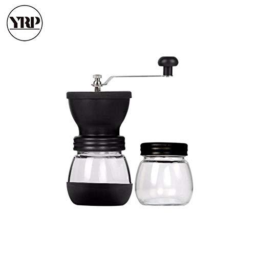 Handmatige keramische koffiemolen met versterkte glazen voorraadpot Duurzame koffiebonenmolen Koffiezetapparaat Keukengereedschap, combinatie
