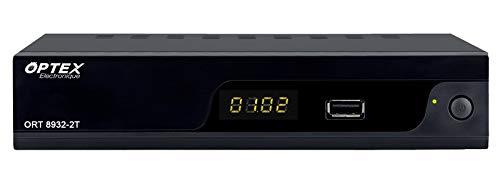 Décodeur TNT HD DVB-T2 HEVC Double Tuner,Enregistrement sur USB,Sortie Audio coaxial,Connexion RJ45, HDMI,Péritel