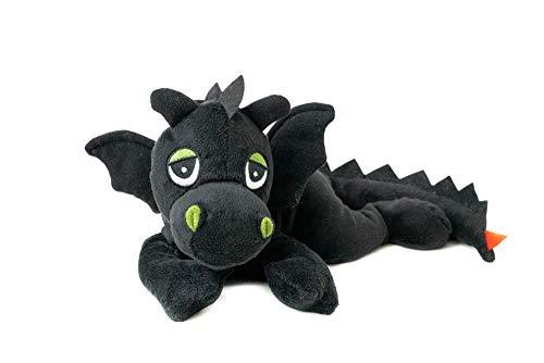Habibi® Coussin chauffant en forme de dragon porte-bonheur Noir