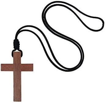 Intercession Wood Cross on Cord - Made in Brazil