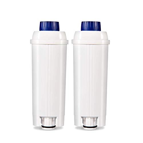 Rhodesy Wasserfilter für Kaffeemaschinenfilter DLSC002 mit Aktivkohleenthärter, Homegoo Filter kompatibel mit ECAM, Esam, ETAM, BCO, EC. (2 Packungen)