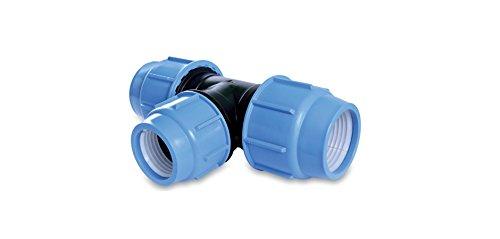 PP Té Raccord de tuyau PE 16, 20, 25, 32et 75mm 16bar connecteur angle d'irrigation DVGW 32 mm x 32 mm
