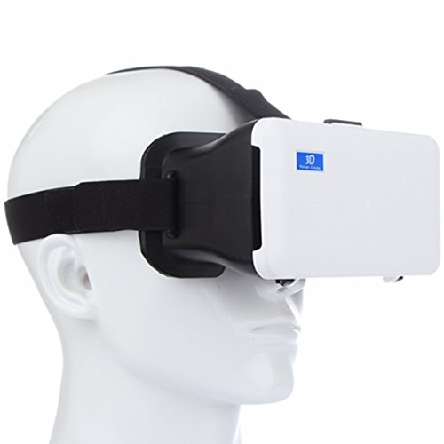 Plastic Virtual Reality 3D Video Bril voor Android iOS 4.3-6.3inch Smart Phones, Zwart