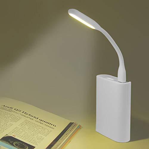ZZSSC Lámpara de Escritorio LED Ultra Brillante Flexible para el hogar Funcionamiento y portátil Accesorio de computadora portátil Pantalla USB Colgando Luz-Contiene 3 Luces USB.(04,White)