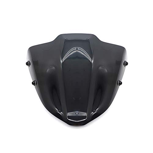 Vindruta vindrutan för Yamaha MT 09 MT09 2017 2018 2019 FZ 09 FZ09 Motorcykel Frontskärm Vinddämpare Presentkort (Color : Black)