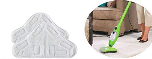 H20 MOP X5 - Juego de 2 toallitas de microfibra lavables para escoba de vapor H20 MOP X5