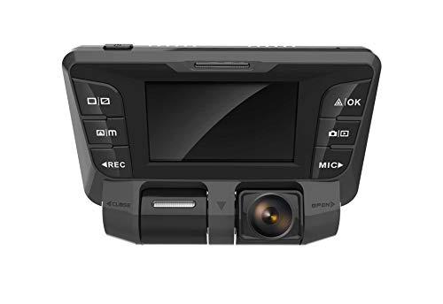 zhuao HD Weitwinkel-Nachtsichtgerät, Dual-Linsen-Panorama-Dashcam, Parküberwachung Dashcam Schwarz