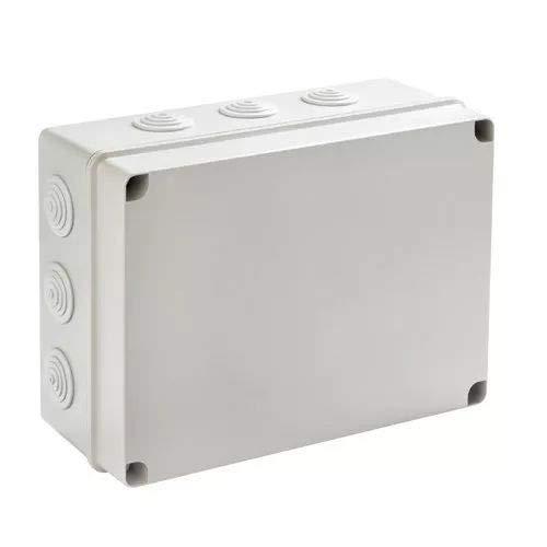 IDE EV322 IP65 waterdichte verdeeldoos met mat deksel en kegel, grijs, 239 mm x 328 mm x 129 mm