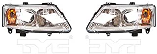 CarLights360: Fits 2003 2004 2005 2006 2007 Saab 9-3 Headlight Assembly Driver and Passenger Side w/Bulbs Halogen Type - Replaces SB2502109 SB2503109 (Vehicle Trim: 2 Dr; 4 Dr.)