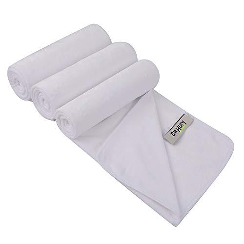 KinHwa Mikrofaser-Sporthandtuch, schnelltrocknend, Schweiß-Handtücher, Mehrzweck-Trainingshandtuch für Männer und Frauen, 3er-Pack, 40,6 x 78,9 cm