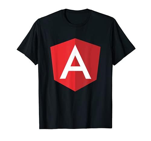 Eckige angular. JS Randlos Logo T-Shirt