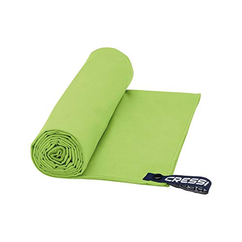 Cressi Microfibre Fast Drying Toalla de Sport, Unisex Adulto, Verde, 60x120cm