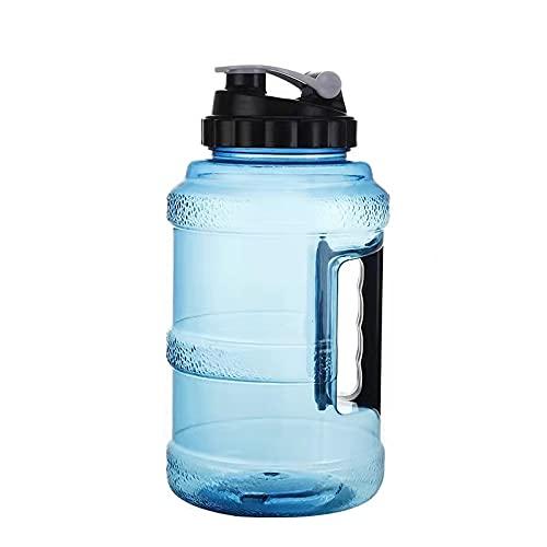 KYUEE Botella de agua deportiva de gran capacidad, reutilizable de 2,5 l para deportes al aire libre, botella de agua de plástico de boca ancha, a prueba de fugas para gimnasio, fitness