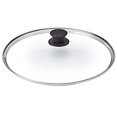 """Glass Lid - 12""""-inch/30.48-cm - Compatible with Lodge - Fully Assembled Tempered Replacement Cover - Oven Safe for Skillet Pots Pans: Universal for all Cookware: Cast Iron, Stainless Steel, Non-Stick"""