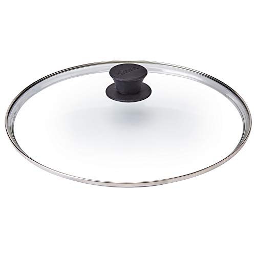 """Glass Lid - 12""""-inch/30.48-cm/308mm - Compatible with Lodge - Fully Assembled Tempered Replacement Cover - Oven Safe for Skillet Pots Pans: Universal for all Cookware: Cast Iron, Stainless, Non-Stick"""