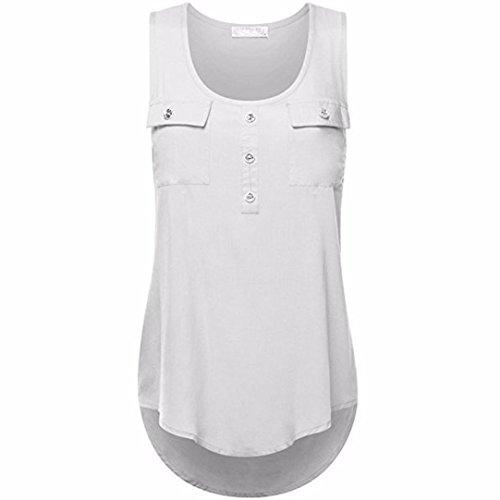ESAILQ Damen T-Shirt Damen Sommer Bauchfrei Trägerlos V-Ausschnitt Stickerei Crop Tops Oberteile Bluse(XXXXL,Weiß)
