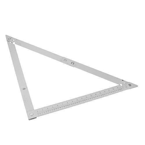 TUERSI Aleación de Aluminio Plegable triángulo Regla Regla Regla Regla de Madera medición de la carpintería y Herramientas de Dibujo