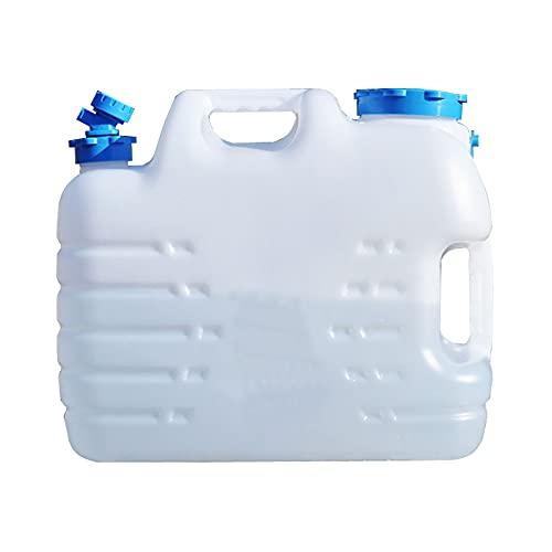 XFB Cubo de Agua portátil, contenedor de Agua con Grifo y Mango, cochera de cúbal de Agua de Seguridad de automóvil Espesado Cuadrado para Acampar al Aire Libre (Size : 18.5L)