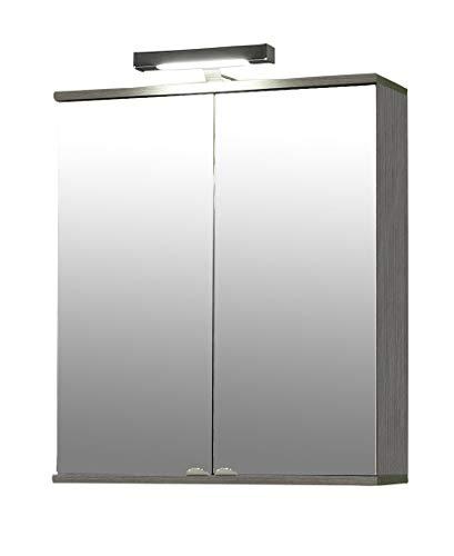 Schildmeyer Spiegelschrank 120106 Isola, 60x16x77 cm, esche grau Dekor