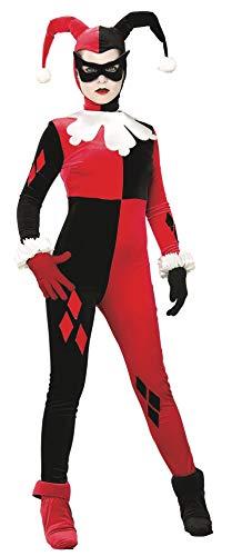 """Rubie's Offizielles Damen-Kostüm """"Hofnarr Harley Quinn"""", Overall-Schnitt, Gr. M"""