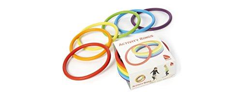 6er Set Gonge Activity Rings Wurfringe Jonglieren Rhythmik Sport Gymnastik Ringe