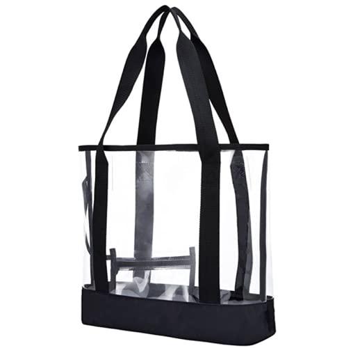 ビニールバッグ クリア プール 海水浴 スパバッグ 着替え入れ ベーシックデザイン (L)
