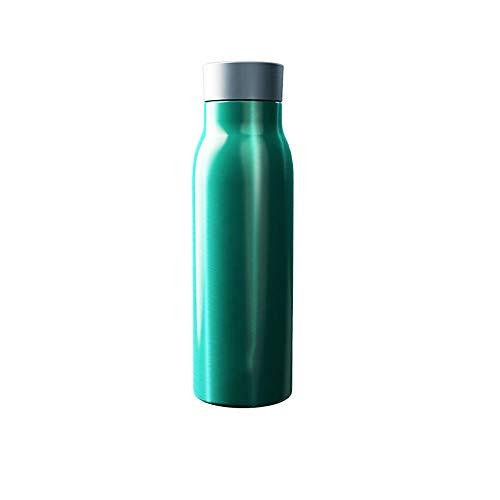Tasse d'eau Froide isolée isolée de Grande capacité d'acier Inoxydable de ménage de Tendance fraîche et créative de ménage (Color : Green)