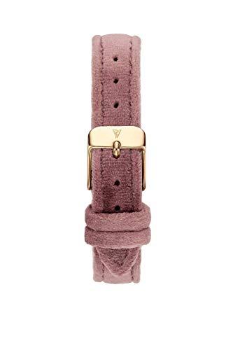 PAUL VALENTINE ® Uhren-Armbänder für Deine individuelle Uhr - In vielen Damenuhr (Pink Velvet Strap