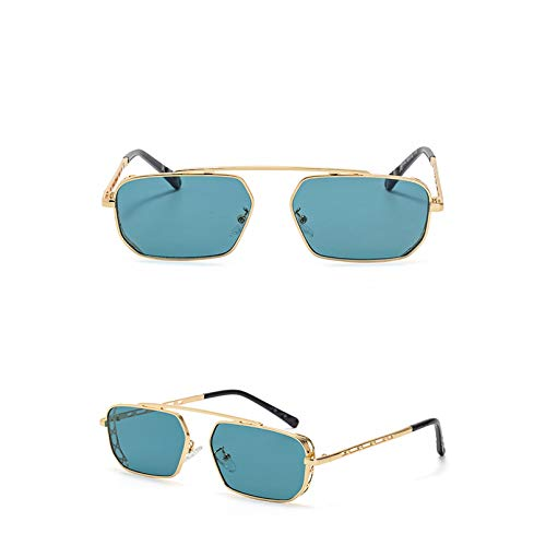 SXRAI Gafas de Sol rectangulares pequeñas Gafas de Sol cuadradas de Moda para Mujer para Hombre Gafas de Sol,C4