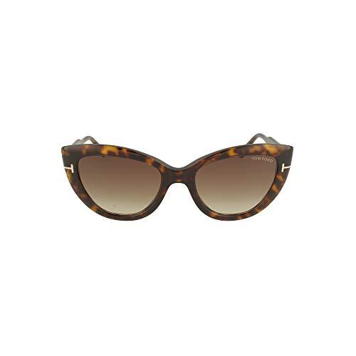 Tom Ford FT0762 52K Dark Havana FT0762 Cats Eyes Sunglasses Lens Category 3 Siz