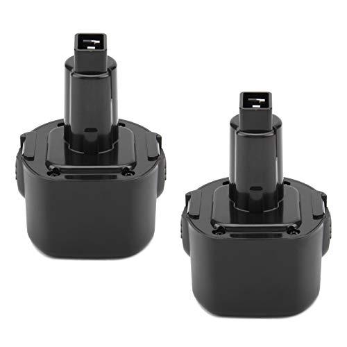 Exmate 2 Pack 9.6V 3.5Ah Ni-Mh Replacement Battery Compatible with DEWALT DE9061 DE9062 DW9061 DW9062 DE9036 DW911 DW921 DW9614 DW050 DW926K-2 DW952 DW955K-2 DW967k Cordless Power Tools