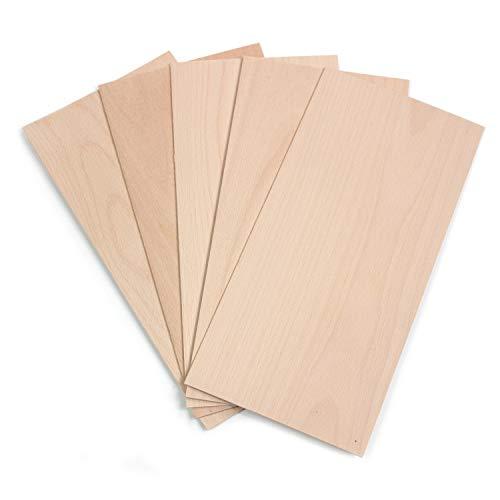 wodewa Holz Furnier Set 4mm Starkfurnier Buche 60 x 14 m 10er Set Sägefurnier Bastelholz Platten Echtholz Holzfurnier zum Basteln Holzplatte Bastelset Modellbau DIY