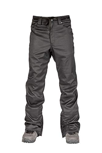 L1 Premium Goods Skinny Twill Pantalon pour Homme Noir Taille M