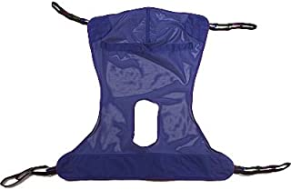 Mesh Full Body Sling with Commode Opening Tested for Comfort & Security in Homecare & Long Term Care by Top Shelf (LG 58