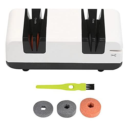 Afilador de cuchillos eléctrico multifuncional profesional de corte automático con 3 discos de lijado, para cuchillos rectos, tijeras onduladas.