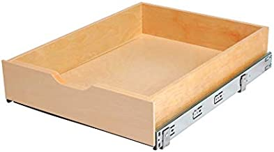 Knape & Vogt 5 in. H x 18 in. W x 22 in. D Soft-Close Wood Drawer Box Pull Out Cabinet Organizer, Brown
