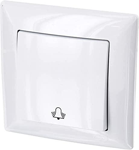 Interruttore UP con simbolo del campanello – tutto in uno, telaio + inserto da incasso + copertura (serie G1 bianco puro)