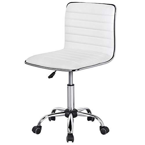 Yaheetech Bürostuhl höhenverstellbarer Drehstuhl Schreibtischstuhl 360° Frei Drehbar Chefsessel mit Laufrollen