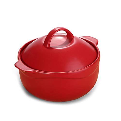 Tangguo Microkristallijne Keramische Pot Braadpan Soep Pot stoofpot gestoofd Varkensvlees Pot Pap Rijstkoker Pot 2.8L Rood