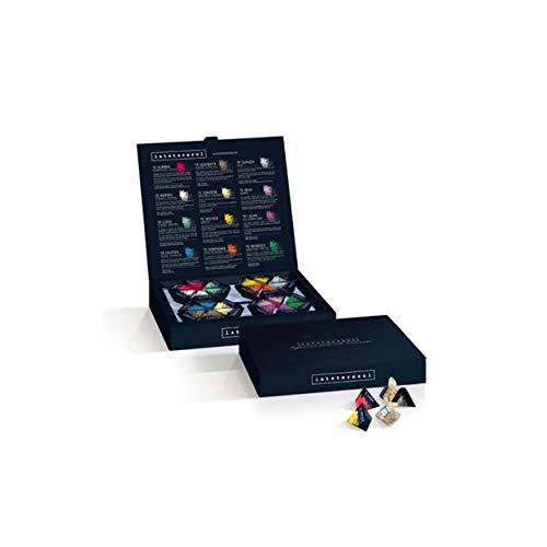 La Tetera Azul. Cada uno de nuestras infusiones es única, con su personalidad, su imagen, su color… Y todas tienen algo en común: son capaces de despertar tus sentidos. Esta caja contiene 24 BLENDS piramidales 2 pirámides de: té refresca (menta poleo...